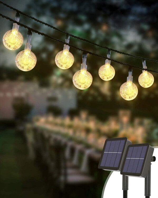 luces jardin exterior